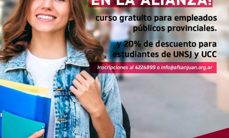 Photo of La SECITI y la Alianza Francesa San Juan invitan a participar de cursos de francés
