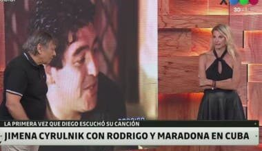 Photo of La anécdota menos pensada de Jimena Cyrulnik con Rodrigo y Diego Maradona en Cuba